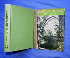 GARDEN DESIGN: SYLVIA CROWE 1959 HC/DJ ILLUS WITH DRAWINGS AND B&W PHOTOS