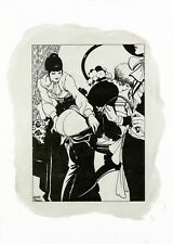 Leone Frollo 2010 Di-litho & oil on paper 'punizione' non authorized copy - COA