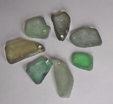 Welsh Sea Glass - Pre drilled sea glass a Pendants Green