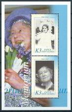 Papua Neuguinea - Tod von Königinmutter Block 22 postfrisch 2002 Mi. 938-939