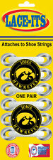 """Iowa Hawkeyes """"logo"""" Shoe Lace Accessory (Logo attaches to shoe strings)"""