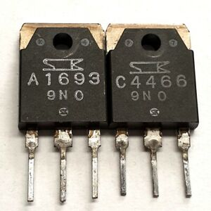 2SA1693 2SC4466 Sanken Matched pulled original transistors Group: O