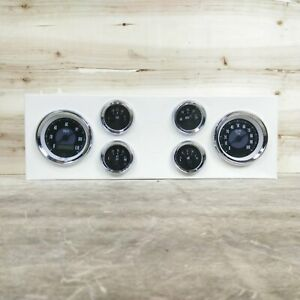 6 Gauge Set Triple Black V Needles LED Backlit Custom Gauge Cluster LS/LSX Swap