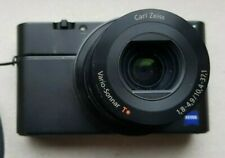 Sony Cyber-Shot RX100 20.1MP Advanced Digital Camera F1.8 with battery + 2 cases