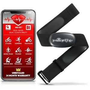 Heart Rate Monitor Strap for Garmin, Apple, Android, ANT+, Bluetooth 4.0 (M-XXL)