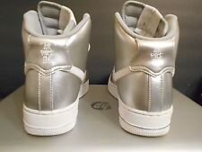 Nike Air Force 1 ID  Sz 7.5 mens or 9 wmns silver hi htm og rare lot vintage
