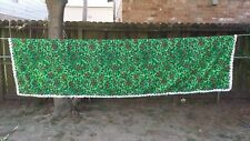 "Vintage Print Green Holly Christmas Rectangle 104""X54"" Tablecloth Free Shipping"