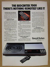 1981 Bang & Olufsen BEOCENTER 7000 Stereo Turntable photo vintage print Ad