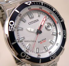 CITIZEN ECO DRIVE STAINLESS STEEL DATE BEZEL DIVER 200m AW1420-63A