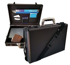 Hard Aluminium Briefcase Executive Laptop Bag Travel Flight Pilot Carry Case UK