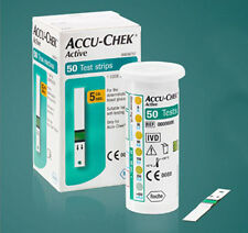 50 Sheets ACCU CHEK Active Test Strips Diabetics Aids Blood Health Hematocrit