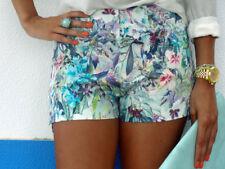 Zara Tropical Multi Flor Impresa Shorts Pantalones Cortos Tamaño S bloggers Fave