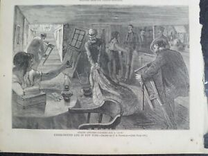 Bar Raid Police Underground Life New York Harper's Weekly 1873
