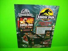 JURASSIC PARK Pinball Machine Flyer Original 1993 PROMO Data East CORNER CREASE