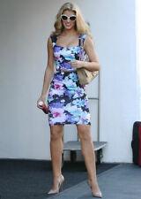 Lipsy Kardashian Floral Pencil Dress 12 Sweetheart Midi Blue Pink Wedding Summer