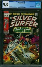 Silver Surfer # 9 CGC 9.0 -- 1969 --  Mephisto app. A+ centering #2036145014