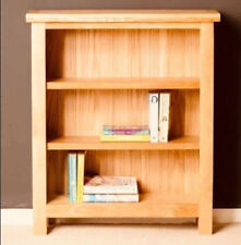 Rustic Oak Bookcase Solid Wood Furniture Wooden Storage Unit Display Shelving
