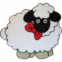 Embroidered Sheep Iron On Badge Sew On Patch Clothing Embroidery Applique Motif