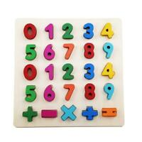 Number Puzzle Digital Wooden Toys Letter Alphabet Puzzle Baby Toys Gifts HO