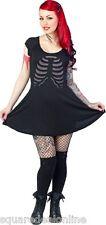 130262 Black & Gray Ribcage Dress Punk Rock Goth Bones Bodice Sourpuss Medium M