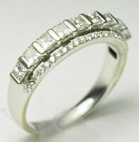 1.50 Ct Princess Cut Diamond Engagement Wedding Band Ring 14K White Gold Finish