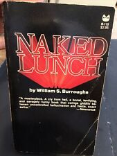 """""""NAKED LUNCH""""  William S. Burroughs Paperbook  *FIRST BLACK CAT EDITION"""