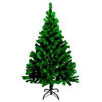 Künstlicher Weihnachtsbaum grün 180 cm | Kunststoff Tannenbaum Christbaum Tanne