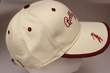 Bobby Jones Beige / Dark Burgundy Baseball / Peak Cap Modern Trendy 100% Cotton