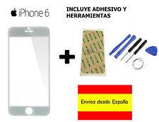 "CRISTAL EXTERIOR PANTALLA FRONTAL +ADHESIVO+HERRAMIENTAS IPHONE 6 6S 4,7"" BLANCO"