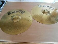 "A Headline 14"" Hi Hat Top Cymbal & A 14"" Hi Hat Cymbal Both Made In Germany"
