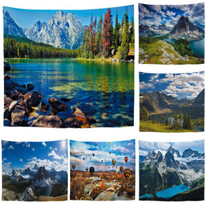 Nature Cloudy Sky Mountain Scenery Tapestry Hippie Wall Hanging Tapestries Decor