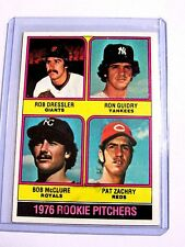 1976 Rookie Pitchers #599 Rob Dressler Ron Guidry Bob McClure Pat Zachry BC#105