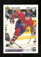 1991-92 Upper Deck French JOHN LeCLAIR Rookie #345 NM-MT Montreal Canadiens