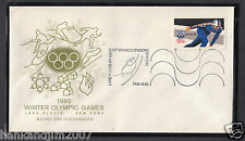 Winter Olympics 1980 Usps Commemorative Envelope & Stamp Van Hoevenberg Station