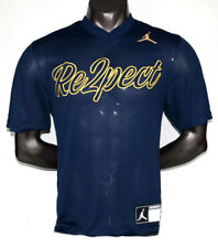 Nike Air Jordan Re2pect Jersey AJ2484-419 NYC Jeter Respect Blue Gold Men's NWT