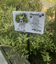 Memorial plaque for pet dog, Personalised grave stone, grave marker gift.