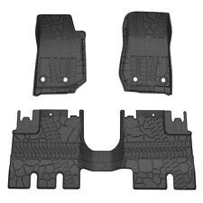 for 2014-2017 Jeep Wrangler JK 4 Door Unlimited Slush Floor Mats All Weather