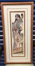 "Framed LE Print By D Swartzendruber - ""Into Africa"" Zebra - Signed & Numbered"