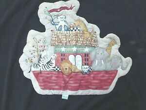 Noah's Ark Quilted Wall Art Hanging Baby Nursery Decor Country Lambs & Ivy