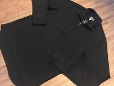 Ibex Men's 1/2 Half Zip Pullover Large 100% Merino Wool Black Sweater