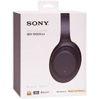 Sony WH-1000XM3 Wireless Noise-Canceling Over-Ear Headphones Black