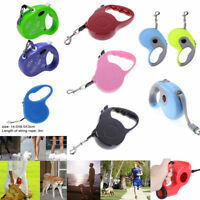 3m/5m Dog Puppy Walking Leash Lead Rope Pet Traction Cat Automatic Retractable