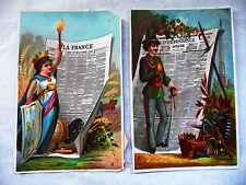 """DEUX CHROMOS ANCIENS JOURNAUX """"LA FRANCE"""" ET """"L'INDEPENDANCE"""""""