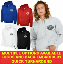 Personalised embroidered Adults Classic Full Zip Hooded Sweatshirt UC504 Hoodie