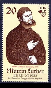 DDR 1982 MNH No Gum, Martin Luther, Monk Professor of theology