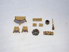 Paisaje minishire - 28-32mm conjunto de detalle interior básica cuchitril. Wargames juegos de rol de metal.