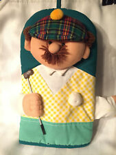 New Golfer Pot Holder Oven Mitt Mr. Golf Club Gag Gift Golfer Kitchen Display