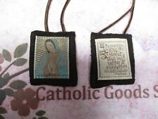 Our Guadalupe Brown Wool Scapular with our Ladys Promise- NEW