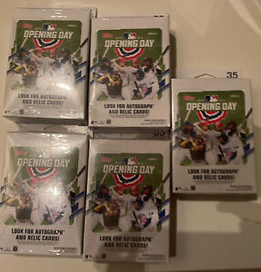 Topps 2021 Opening Day Hanger Box- Factory Sealed- Alec Bohm, & More! Lot X 5
