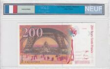 Ticket From 200 Francs Eiffel 1996 New